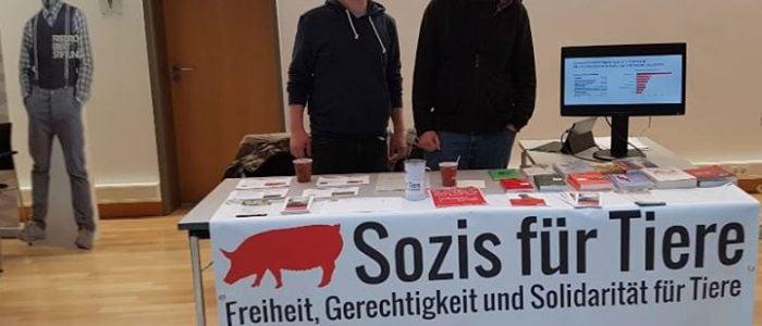Sozis für Tiere Infostand Landesparteitag Hessen 2017