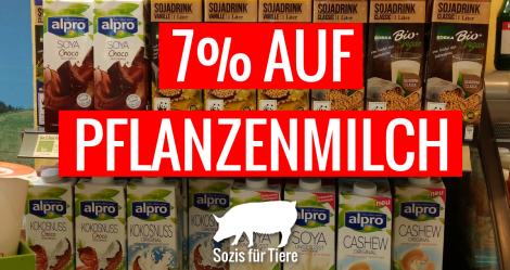 7% auf Pflanzenmilch