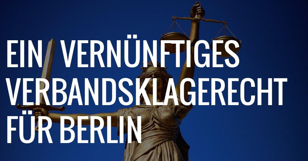 Berlin: Tierschutzverbandsklagerecht vernünftig umsetzen!