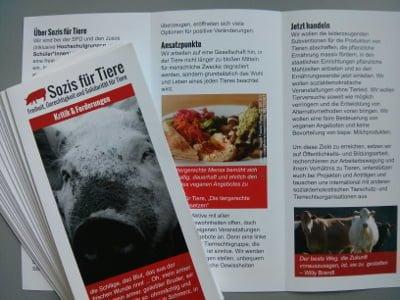 Flyer Kritik und Forderungen Sozis für Tiere