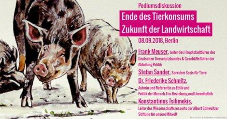 Schweine und die Beschreibung der Podiumsdiskussion